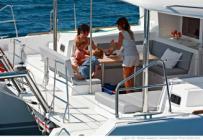 Bareboat catamaran charter Lagoon 450 Luxury Baros from Marina Baotić in Seget Donji near Trogir and Split in Croatia