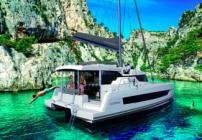 Catamaran Bali Catspace Baby Dolphin in ACI marina Split in Split in Croatia