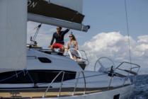 Bareboat sailing yacht charter Elan Impression 45 Tightrope from Marina Kremik in Primošten near Šibenik in Croatia